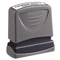 "Xstamper Pre-Inked Message Stamps - Message Stamp - 0.50"" Impression Width x 1.62"" Impression LengthPlastic Cap - 1 Each"