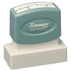 "Xstamper Pre-Inked Stamp - Custom Message Stamp - 0.69"" Impression Width x 1.93"" Impression Length - 50000 Impression(s) - Recycled - 1 Each"
