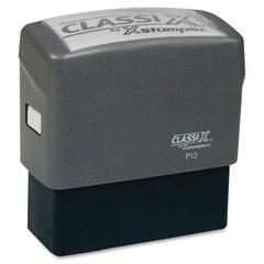 "Xstamper Classix Custom Address Stamps - Custom Message Stamp - 1"" Impression Width x 2.50"" Impression LengthPlastic, Rubber - 1 Each"