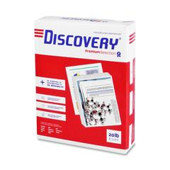 "Discovery Punched Premium Selection Multipurpose Paper - Letter - 8.50"" x 11"" - 20 lb Basis Weight - 0% Recycled Content - 3 x Hole Punched - 97 Brightness - 2500 / Carton - Ultra White"