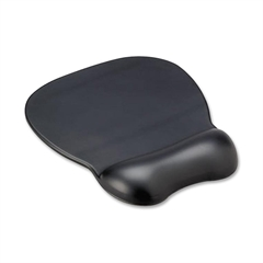 "Compucessory Gel Mouse Pad with Wrist Rest - 9"" x 11"" x 0.8"" Dimension - Black - Gel Base, Rubber - Stain Resistant"