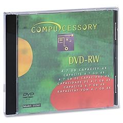 Compucessory DVD Rewritable Media - DVD-RW - 4x - 4.70 GB - 10 Pack - 120mm