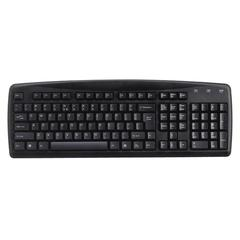 Compucessory Standard Slim Keyboard - Cable Connectivity - USB Interface - Membrane - Black