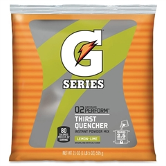 Gatorade Thirst Quencher Mix Pouch - Powder - Lemon Lime Flavor - 1.31 lb - 2.50 gal Maximum Yield - 1 / Pack