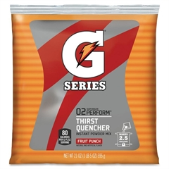 Quaker Oats Powdered Gatorade Mix Pouches - Powder - Fruit Punch Flavor - 1.31 lb - 2.50 gal Maximum Yield - 1 / Pack