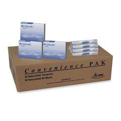 RMC Napkin & Tampon Convenience Pak - Regular Absorbency, Contoured Shape - 100 / Carton