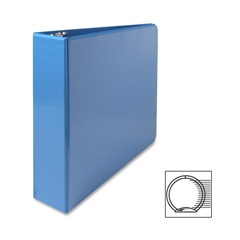 "Sparco Premium Round Ring View Binder - 2"" Binder Capacity - Letter - 8 1/2"" x 11"" Sheet Size - 3 x Round Ring Fastener(s) - 2 Internal Pocket(s) - Polypropylene - Light Blue - 1 Each"