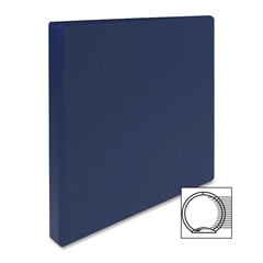 "Sparco Vinyl Ring Binders - 1/2"" Binder Capacity - Letter - 8 1/2"" x 11"" Sheet Size - 3 x Round Ring Fastener(s) - 2 Inside Front & Back Pocket(s) - Vinyl - Dark Blue - 1 Each"