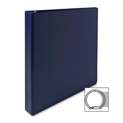 "Sparco Vinyl Ring Binder - 1"" Binder Capacity - Letter - 8 1/2"" x 11"" Sheet Size - 3 x Round Ring Fastener(s) - 2 Inside Front & Back Pocket(s) - Vinyl - Dark Blue - 1 Each"