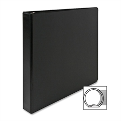 "Sparco Vinyl Ring Binders - 1"" Binder Capacity - Letter - 8 1/2"" x 11"" Sheet Size - 3 x Round Ring Fastener(s) - 2 Inside Front & Back Pocket(s) - Vinyl - Black - 1 Each"