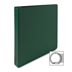 "Sparco Vinyl Ring Binders - 1"" Binder Capacity - Letter - 8 1/2"" x 11"" Sheet Size - 3 x Round Ring Fastener(s) - 2 Inside Front & Back Pocket(s) - Vinyl - Green - 1 Each"