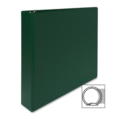 "Sparco Vinyl Ring Binders - 1 1/2"" Binder Capacity - Letter - 8 1/2"" x 11"" Sheet Size - 3 x Round Ring Fastener(s) - 2 Inside Front & Back Pocket(s) - Vinyl - Green - 1 Each"