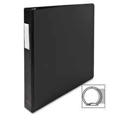 "Sparco Nonlocking 3-Ring Letter Size Binders - 1"" Binder Capacity - Letter - 8 1/2"" x 11"" Sheet Size - 3 x Round Ring Fastener(s) - Vinyl - Black - 1 Each"