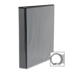 "Sparco Standard Presentation Binder - 1/2"" Binder Capacity - Letter - 8 1/2"" x 11"" Sheet Size - Ring Fastener - 2 Internal Pocket(s) - Black - 1 Each"