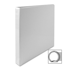"Sparco Standard Presentation Binder - 1"" Binder Capacity - Letter - 8 1/2"" x 11"" Sheet Size - Ring Fastener - 2 Internal Pocket(s) - White - 1 Each"