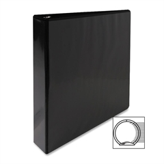 "Standard Presentation Binder - 1 1/2"" Binder Capacity - Letter - 8 1/2"" x 11"" Sheet Size - Ring Fastener - 2 Internal Pocket(s) - Black - 1 Each"