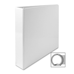 "Sparco Standard Round Ring View Binders - 1 1/2"" Binder Capacity - Letter - 8 1/2"" x 11"" Sheet Size - Ring Fastener - 2 Internal Pocket(s) - White - 1 Each"