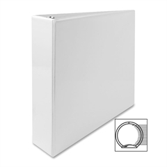 "Sparco Standard Round Ring View Binders - 2"" Binder Capacity - Letter - 8 1/2"" x 11"" Sheet Size - Ring Fastener - 2 Internal Pocket(s) - White - 1 Each"