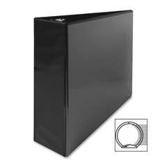 "Sparco Standard Round Ring View Binders - 3"" Binder Capacity - Letter - 8 1/2"" x 11"" Sheet Size - Ring Fastener - 2 Internal Pocket(s) - Black - 1 Each"