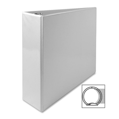 "Sparco Standard Round Ring View Binders - 3"" Binder Capacity - Letter - 8 1/2"" x 11"" Sheet Size - Ring Fastener - 2 Internal Pocket(s) - White - 1 Each"