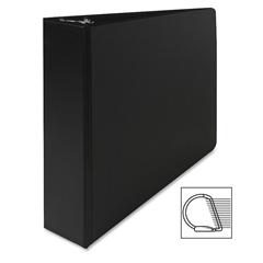 """Sparco Slant Ring Binder - 2"""" Binder Capacity - Letter - 8 1/2"""" x 11"""" Sheet Size - 3 x D-Ring Fastener(s) - Inside Front Pocket(s) - Cardboard, Vinyl - Black - 1 Each"""
