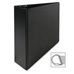"""Sparco Slant Ring Binder - 3"""" Binder Capacity - Letter - 8 1/2"""" x 11"""" Sheet Size - 3 x D-Ring Fastener(s) - Inside Front Pocket(s) - Cardboard, Vinyl - Black - 1 Each"""