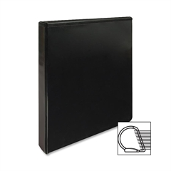 "Slanted Ring View Binder - 1"" Binder Capacity - Letter - 8 1/2"" x 11"" Sheet Size - 3 x D-Ring Fastener(s) - Black - 1 Each"