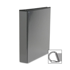 "Sparco Slanted Ring View Binder - 1 1/2"" Binder Capacity - Letter - 8 1/2"" x 11"" Sheet Size - 3 x D-Ring Fastener(s) - Black - 1 Each"