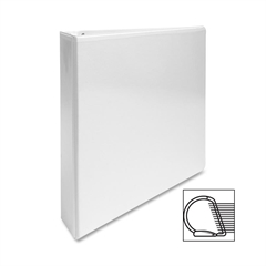 "Sparco Slanted Ring Presentation Binder - 1 1/2"" Binder Capacity - Letter - 8 1/2"" x 11"" Sheet Size - 3 x D-Ring Fastener(s) - White - 1 Each"