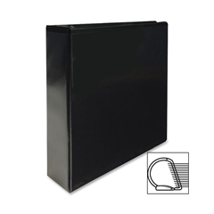 "Sparco Slanted Ring View Binder - 2"" Binder Capacity - Letter - 8 1/2"" x 11"" Sheet Size - 3 x D-Ring Fastener(s) - Black - 1 Each"