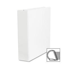 "Sparco Slanted Ring Presentation Binder - 2"" Binder Capacity - Letter - 8 1/2"" x 11"" Sheet Size - 3 x D-Ring Fastener(s) - White - 1 Each"
