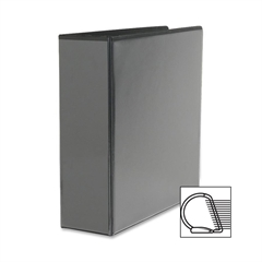 "Sparco Slanted Ring View Binder - 3"" Binder Capacity - Letter - 8 1/2"" x 11"" Sheet Size - 3 x D-Ring Fastener(s) - Black - 1 Each"