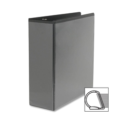 "Sparco Slanted Ring View Binder - 4"" Binder Capacity - Letter - 8 1/2"" x 11"" Sheet Size - D-Ring Fastener - Black - 1 Each"