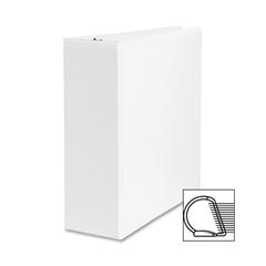 "Sparco Slanted Ring Presentation Binder - 4"" Binder Capacity - Letter - 8 1/2"" x 11"" Sheet Size - 3 x D-Ring Fastener(s) - White - 1 Each"