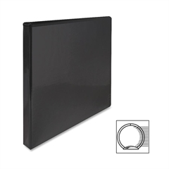 "Sparco Premium Round Ring View Binder - 1/2"" Binder Capacity - Letter - 8 1/2"" x 11"" Sheet Size - 3 x Round Ring Fastener(s) - 2 Internal Pocket(s) - Polypropylene - Black - 1 Each"