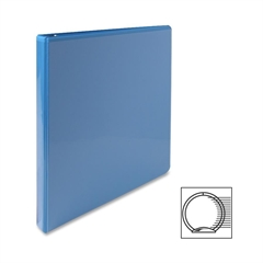 "Premium Round Ring View Binder - 1/2"" Binder Capacity - Letter - 8 1/2"" x 11"" Sheet Size - 3 x Round Ring Fastener(s) - 2 Internal Pocket(s) - Polypropylene - Light Blue - 1 Each"