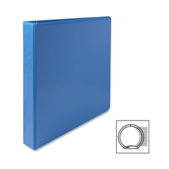 "Sparco Premium Round Ring View Binder - 1"" Binder Capacity - Letter - 8 1/2"" x 11"" Sheet Size - 3 x Round Ring Fastener(s) - 2 Internal Pocket(s) - Polypropylene - Light Blue - 1 Each"