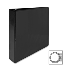 "Sparco Premium Round Ring View Binder - 1 1/2"" Binder Capacity - Letter - 8 1/2"" x 11"" Sheet Size - 3 x Round Ring Fastener(s) - 2 Internal Pocket(s) - Polypropylene - Black - 1 Each"