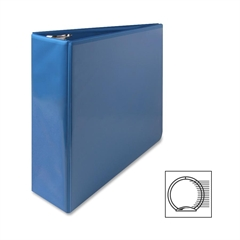 "Premium Round Ring View Binder - 3"" Binder Capacity - Letter - 8 1/2"" x 11"" Sheet Size - 3 x Round Ring Fastener(s) - 2 Internal Pocket(s) - Polypropylene - Light Blue - 1 Each"