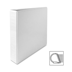 "Sparco Deluxe Slant Ring View Binder - 1 1/2"" Binder Capacity - Letter - 8 1/2"" x 11"" Sheet Size - 3 x D-Ring Fastener(s) - 2 Internal Pocket(s) - Vinyl, Polypropylene - White - 1 Each"