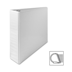"Sparco Deluxe Slant Ring View Binder - 2"" Binder Capacity - Letter - 8 1/2"" x 11"" Sheet Size - 3 x D-Ring Fastener(s) - 2 Internal Pocket(s) - Vinyl, Polypropylene - White - 1 Each"