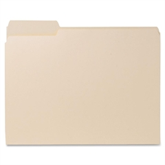"Sparco Recycled File Folder - Letter - 8.50"" x 11"" Sheet Size - 0.75"" Expansion - 1/3 Tab Cut - Left Tab Location - 11 pt. Folder Thickness - Manila - Manila - Recycled - 100 / Box"