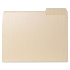 "Recycled File Folder - Letter - 8.50"" x 11"" Sheet Size - 0.75"" Expansion - 1/3 Tab Cut - Right Tab Location - 11 pt. Folder Thickness - Manila - Manila - Recycled - 100 / Box"