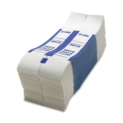 Sparco $100 Bill Strap - 1000 Wrap(s) - Kraft - Blue