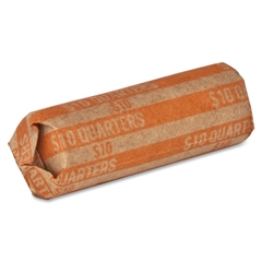 Sparco Flat $10.00 Quarters Coin Wrapper - 1000 Wrap(s) - 60 lb Paper Weight - Kraft - Orange