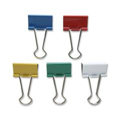 "Sparco Assorted Color Binder Clips - Medium - 1.3"" Width - 0.63"" Size Capacity - 24 / Pack - Assorted - Steel"