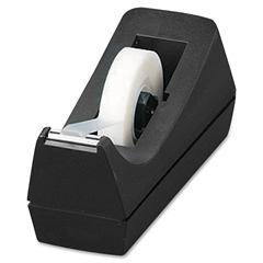 "Sparco Desktop Tape Dispenser - Holds Total 1 Tape(s) - 1"" Core - Refillable - Black"