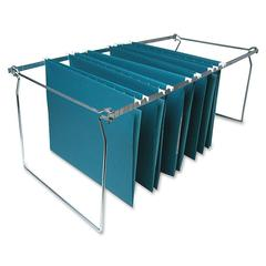 "Sparco Premium File Folder Frames - 27"" Letter Drawer Size Supported - Metal - 6/Box - Stainless Steel"