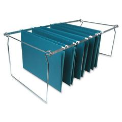 "Hanging File Folder Frame - 27"" Legal Drawer Size Supported - Metal - 6/Box - Stainless Steel"