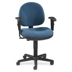 "Lorell Millenia Pneumatic Adjustable Task Chair - Blue Seat - 24"" Seat Width x 24"" Seat Depth - 24"" Width x 24"" Depth x 38"" Height"